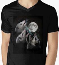 3 Opossum Moon V-Neck T-Shirt