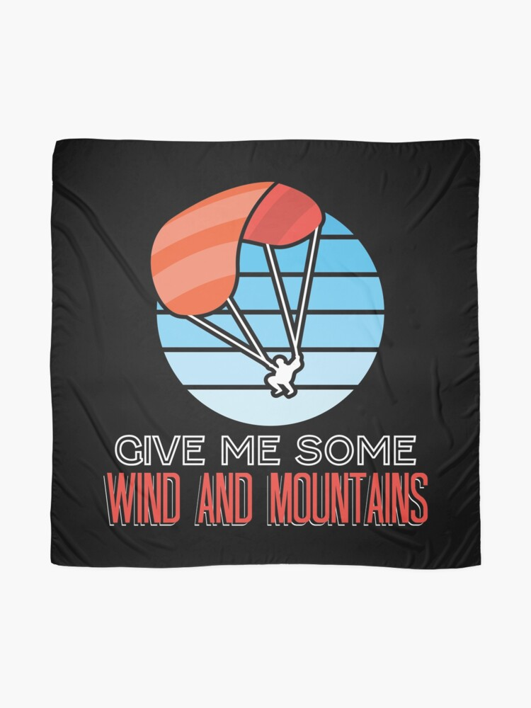 Alternate view of Paraglider Give Me Some Wind And Mountains Scarf