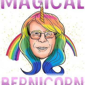 Bernie Sanders Unicorn Magical Bernicorn by frittata