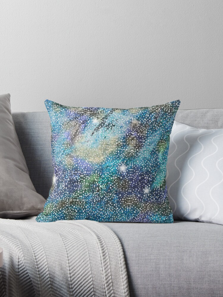 RB201, Bling Look Textiles, Fabrics, Bluish w/Stars by Melody Koert