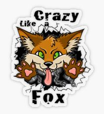 Crazy Like a Fox! Transparent Sticker