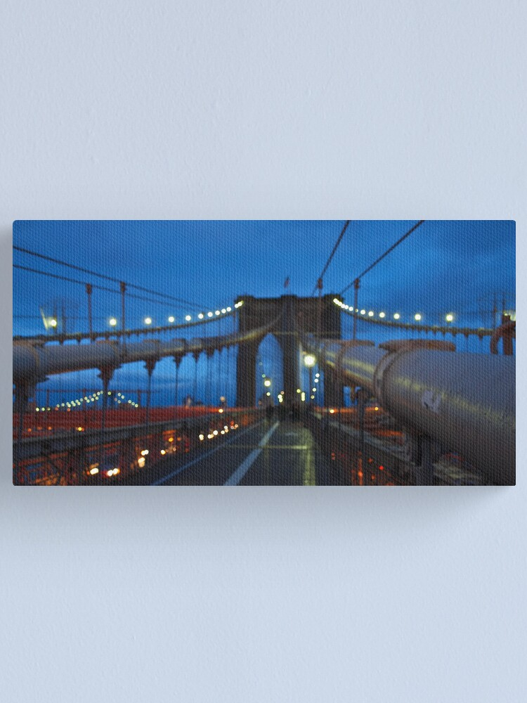 Alternate view of Luci sul ponte al crepuscolo Canvas Print