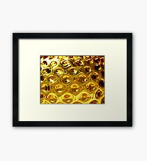 Yellow bubble coloured glass  Framed Print