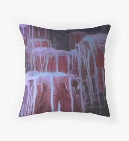 Jellyfish in Oils/ Vivid 2015 Throw Pillow