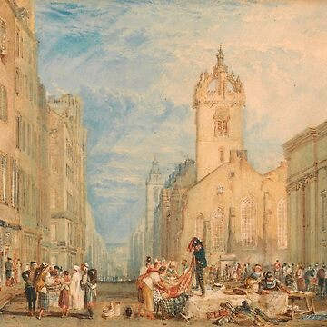 "Joseph Mallord William Turner ""High Street, Edinburgh"" by ALD1"