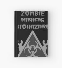 ZOMBIE MINIFIG BIOHAZARD Hardcover Journal