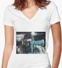 Viking Camiseta entallada de cuello en V