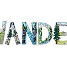 WANDER - handmade font inspired by nature by EverhardDesigns