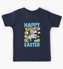Frohe Ostern Einhorn Kinder T-Shirt