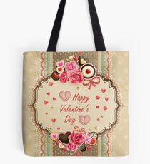 Happy Valentines Day Card Tote Bag