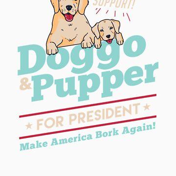 Doggo Pupper for President Funny Dog Puppy Meme by doggopupper