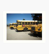 School Buses Art Print