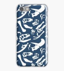 Dinosaur Bones (Blue) iPhone Case/Skin