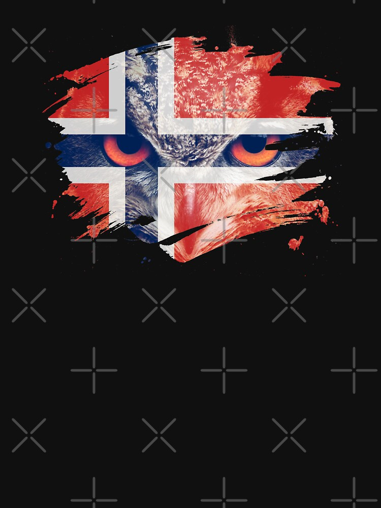 Norway Flag and Menacing Owl by ockshirts