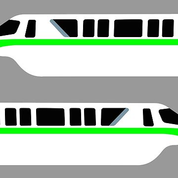 Minimal Monorail Lime by FandomTrading