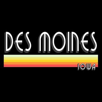 Des Moines Iowa Souvenirs IA Retro by fuller-factory