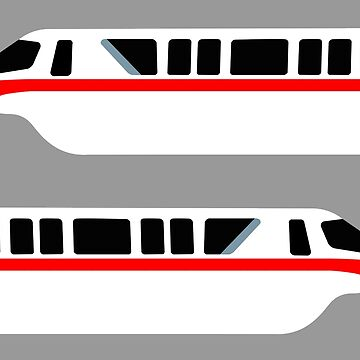 Minimal Monorail Red by FandomTrading