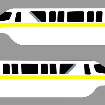 Minimal Monorail Yellow by FandomTrading