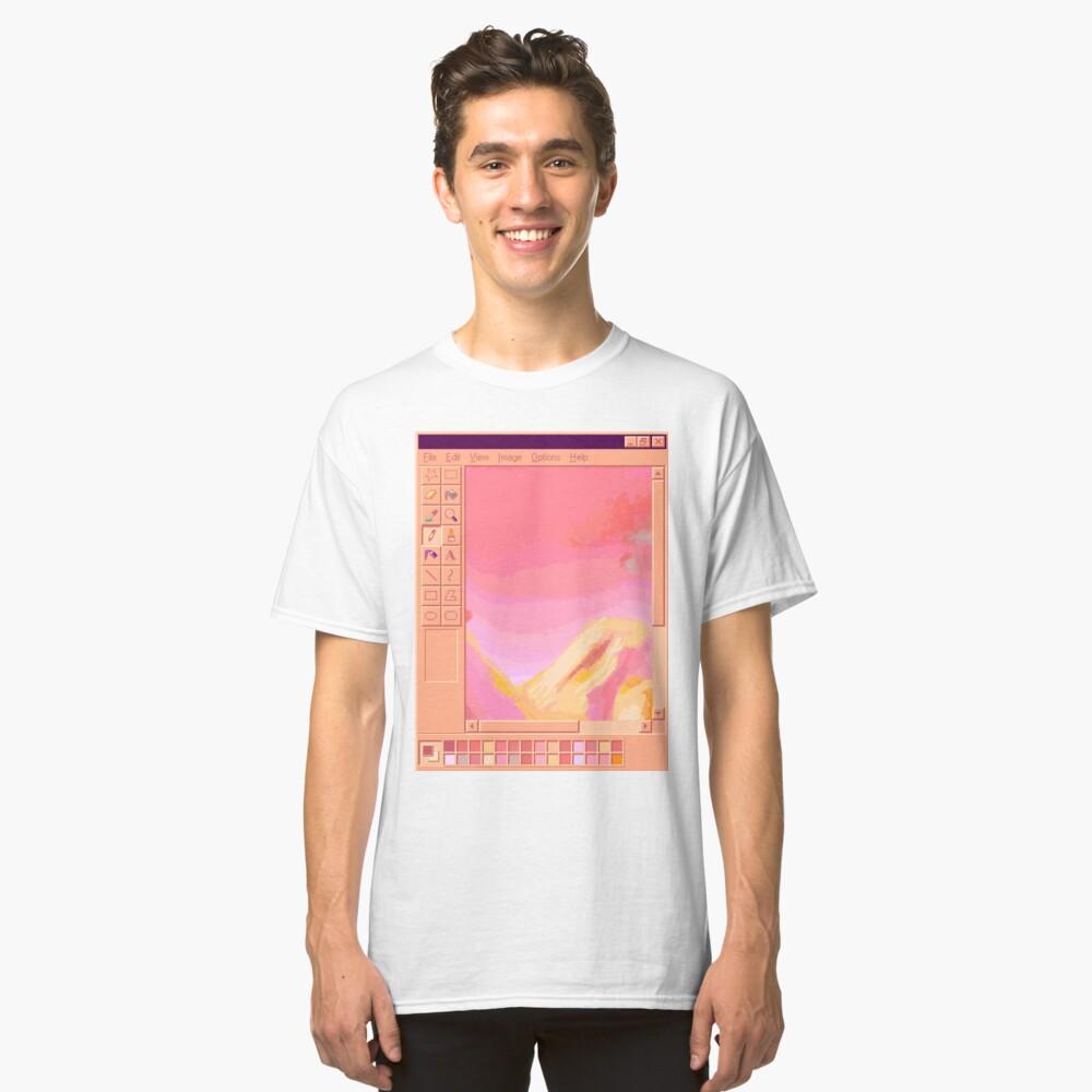 Vaporwave MS Paint Pastel Mountains Classic T-Shirt