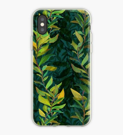 Crazy Seaweed Pattern by Robert Phelps iPhone Case