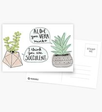 These Puns are Succulent ;) Postcards
