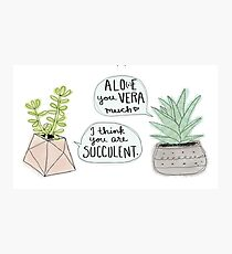 These Puns are Succulent ;) Photographic Print