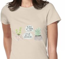 These Puns are Succulent ;) Womens Fitted T-Shirt