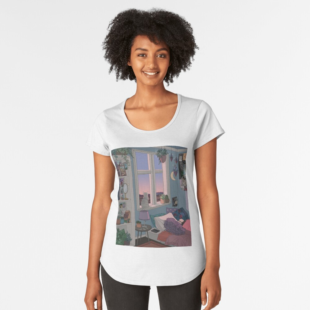 Early Morning Premium Scoop T-Shirt