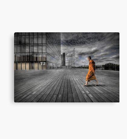 Monk in Paris Canvas Print