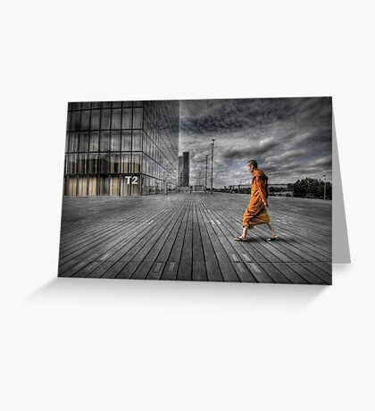 Monk in Paris Greeting Card