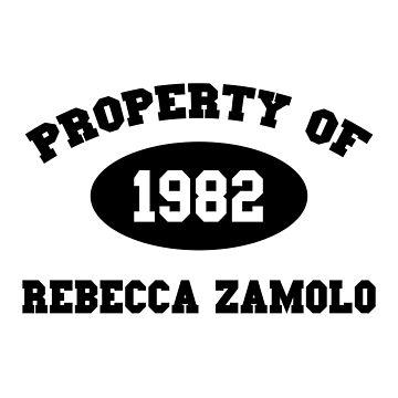 Property of Rebecca Zamolo by amandamedeiros