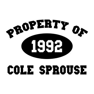 Property of Cole Sprouse by amandamedeiros