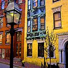 Beacon hill street lamp and walkway by Dominique MEYNIER