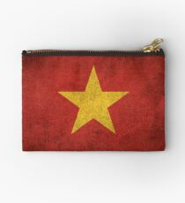 Old and Worn Distressed Vintage Flag of Vietnam Studio Pouch