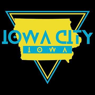 Iowa City IA Souvenirs Retro by fuller-factory