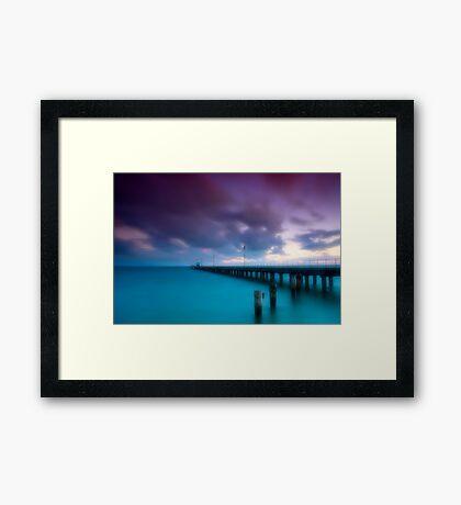 Dusk at Mordialloc Pier Framed Print