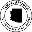 Tempe Arizona Souvenirs AZ Emblem by Skylar Harris