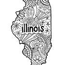 Illinois Zeichnung von Corey Paige Designs
