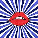 Starburst Lippen von Corey Paige Designs