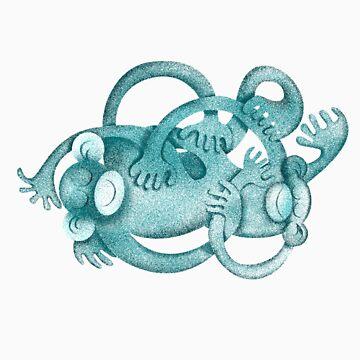 Monkey Wrestle Tee Shirt by Louiecat1
