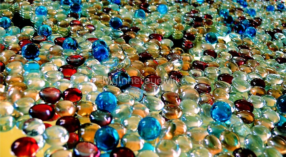#553    Colour'd Marbles On A Mirror by MyInnereyeMike