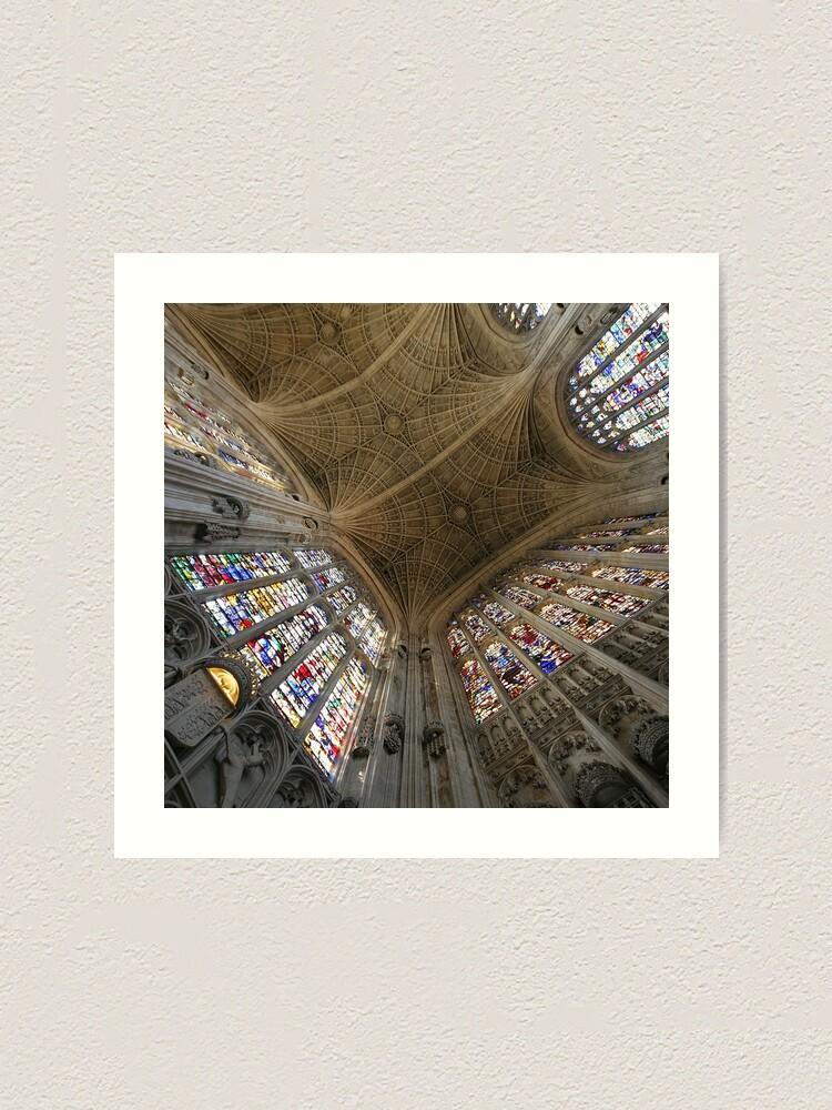 Alternate view of Kings College, Cambridge. Art Print