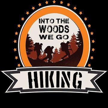hiking hiking hiker forest hike backpack by yoddel