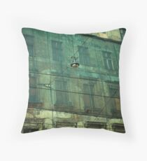 a surgical mask Throw Pillow