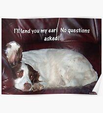 Lending An Ear Poster