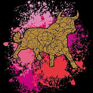 Golden Bull by Vectorbrusher