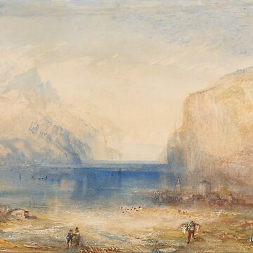 "Joseph Mallord William Turner ""Fluelen- Morning (looking towards the lake)"" by ALD1"