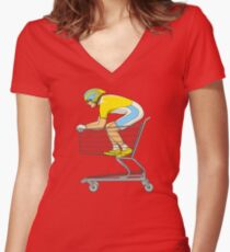 Retail Racer Women's Fitted V-Neck T-Shirt