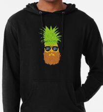 Bearded Fruit Cool Pineapple Graphic T-shirt Sunglasses Mustache Old Juicy Summer Beach Holidays Lightweight Hoodie