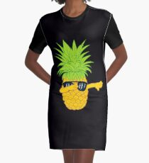 Swagger Dab Sunglasses Fruit Cool Pineapple Graphic T-shirt Summe Holidays Vacation Swag Dope Design Graphic T-Shirt Dress